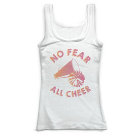Cheerleading Vintage Fitted Tank Top - No Fear All Cheer