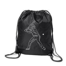 Baseball Sport Pack Cinch Sack - Baseball Player Sketch