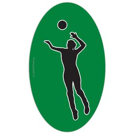 Volleyball Oval Car Magnet Spike