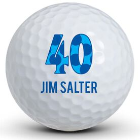 Happy Birthday Number & Name Golf Balls