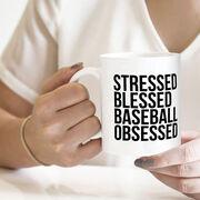 Baseball Coffee Mug - Stressed Blessed Baseball Obsessed