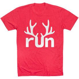 Running Short Sleeve T- Shirt - Reindeer Run
