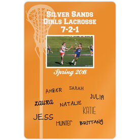 """Lacrosse 18"""" X 12"""" Aluminum Room Sign Personalized Record Team Photo with Signatures"""