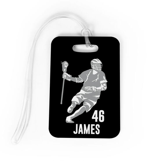 aec3b4f679b7 Guys Lacrosse Bag/Luggage Tag - Personalized Dodger Silhouette