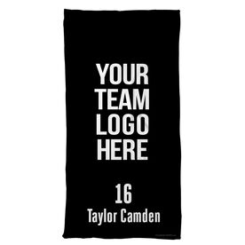 Hockey Beach Towel Custom Team Logo