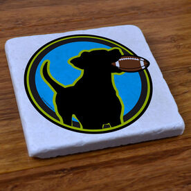 Football Dog - Stone Coaster