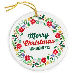 Porcelain Ornament - Our Family Christmas Wreath