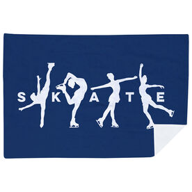 Figure Skating Premium Blanket - Skate With Silhouettes