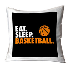 Basketball Decorative Pillow - Eat Sleep Basketball
