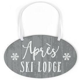 Skiing Oval Sign - Après Ski Lodge
