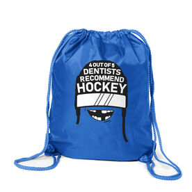 Hockey Sport Pack Cinch Sack - 4 Out Of 5 Dentists Recommend Hockey