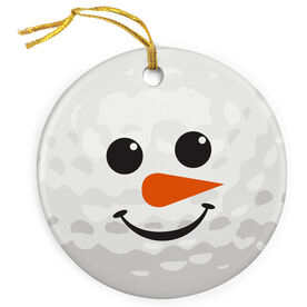 Golf Porcelain Ornament Snowman Ball
