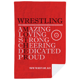 Wrestling Premium Blanket - Mother Words