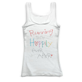 Running Vintage Fitted Tank Top - Running To My Happily Ever After