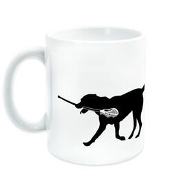 Lacrosse Coffee Mug Max the Lax Dog