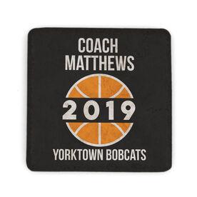 Basketball Stone Coaster - Personalized Basketball Coach