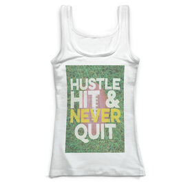 Football Vintage Fitted Tank Top - Hustle Hit & Never Quit
