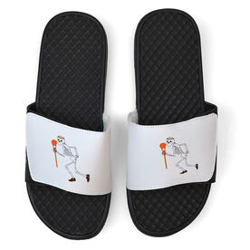 Lacrosse White Slide Sandals - Skeleton