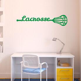 Lacrosse Removable ChalkTalkGraphix Wall Decal Lacrosse Stick Script
