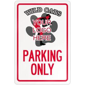 """Wrestling 18"""" X 12"""" Aluminum Room Sign Custom Wrestling Logo Parking Only"""