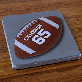 Football Stone Coaster Personalized Football Photo