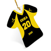 Girls Lacrosse Ornament - Personalized Jersey