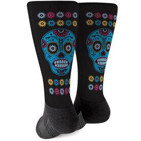 Running Printed Mid-Calf Socks - Sugar Skull