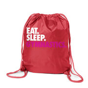 Gymnastics Sport Pack Cinch Sack Eat. Sleep. Gymnastics.