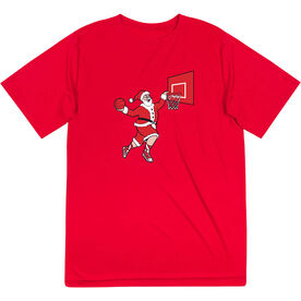 Basketball Short Sleeve Performance Tee - Slam Dunk Santa
