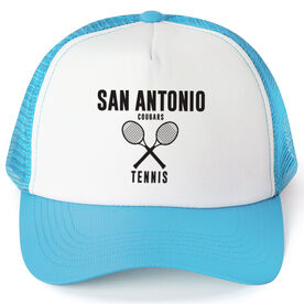 Tennis Trucker Hat - Team Name With Text