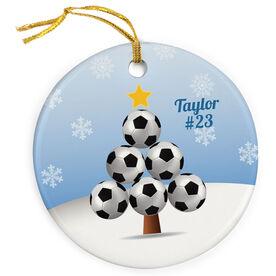 Soccer Porcelain Ornament Ball Christmas Tree