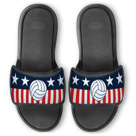 Volleyball Repwell™ Slide Sandals - Stars and Stripes