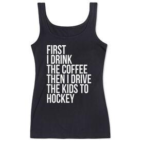 Hockey Women's Athletic Tank Top - Then I Drive The Kids To Hockey