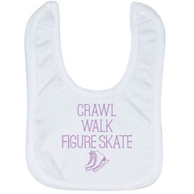 Figure Skating Baby Bib - Crawl Walk Figure Skate
