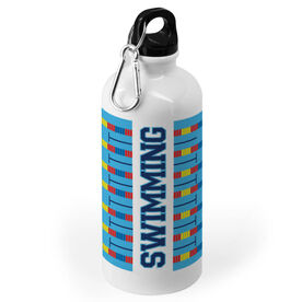 Swimming 20 oz. Stainless Steel Water Bottle - Word With Lanes