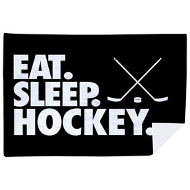Hockey Premium Blanket - Eat. Sleep. Hockey. Horizontal