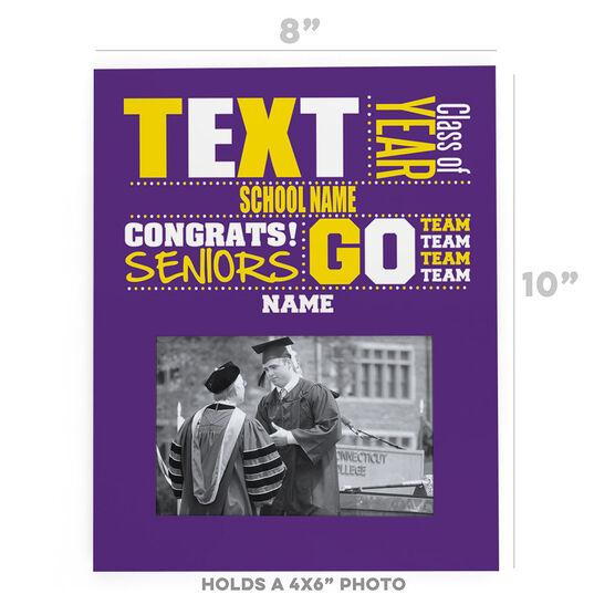 Personalized Photo Frame - School Pride Graduate