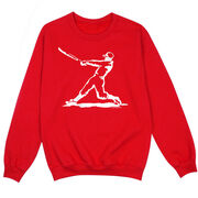 Baseball Crew Neck Sweatshirt - Baseball Player