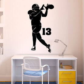 Personalized Football Wide Receiver Removable ChalkTalkGraphix Wall Decal