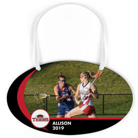 Girls Lacrosse Oval Sign - Team Photo and Logo