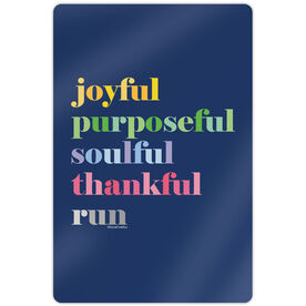 "Running 18"" X 12"" Aluminum Room Sign - Run Mantra (Run)"