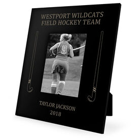 Field Hockey Engraved Picture Frame - Side Sticks