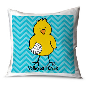 Volleyball Throw Pillow Volleyball Chick Chevron