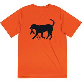 Soccer Short Sleeve Performance Tee - Spot The Soccer Dog