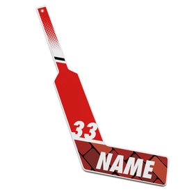 Personalized Knee Hockey Goalie Stick Brick Wall (Goalie)