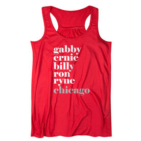 Baseball Flowy Racerback Tank Top - Fantastic Baseball - Chicago