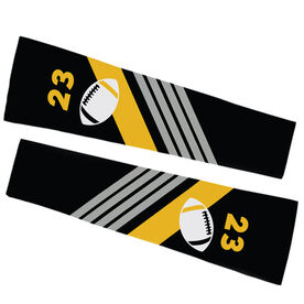 Football Printed Arm Sleeves - Personalized Football with Stripes