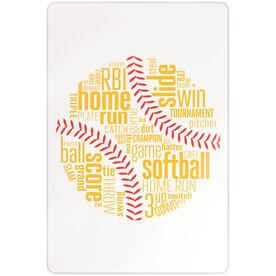 "Softball 18"" X 12"" Aluminum Room Sign - Softball Inspiration Words"
