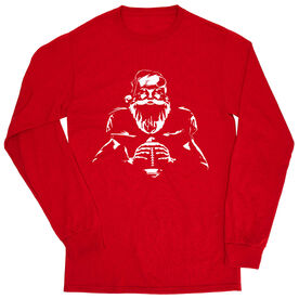Football Tshirt Long Sleeve - Santa Player