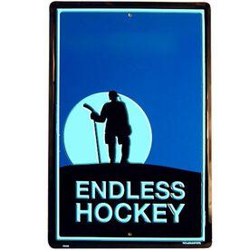 "Endless Hockey Aluminum Room Sign (18"" X 12"")"